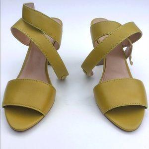 Banana Republic Yellow Samanda Block Heel Sandals